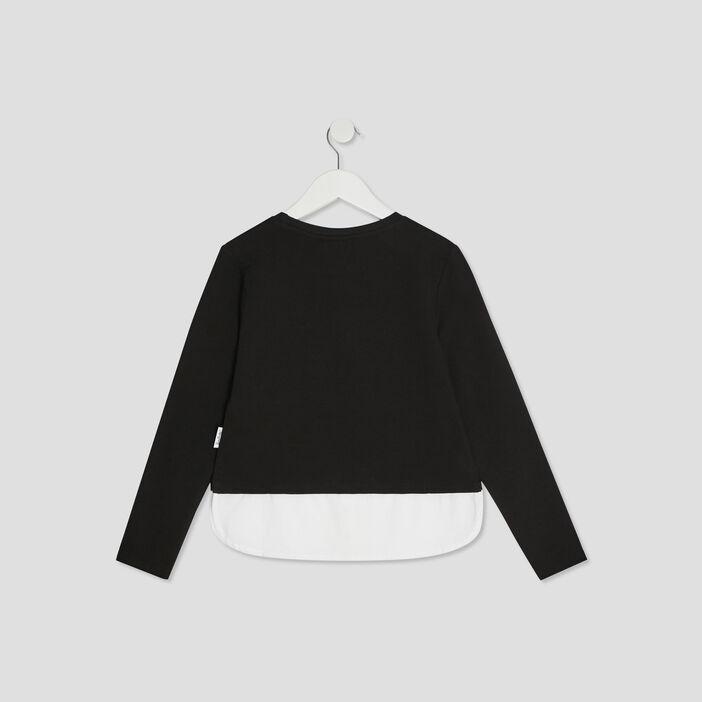 T-shirt Minnie fille noir