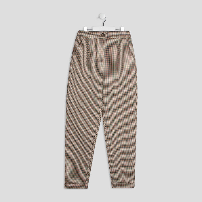 Pantalon ample fille marron