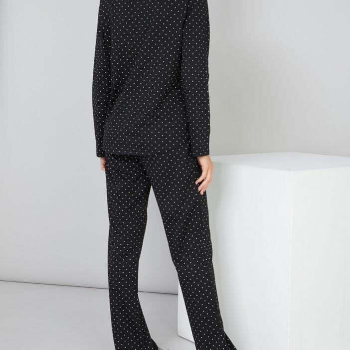 Ensemble pyjama 2 pièces femme noir