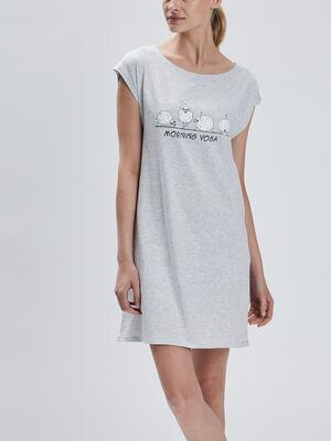 Chemise de nuit droite gris femme