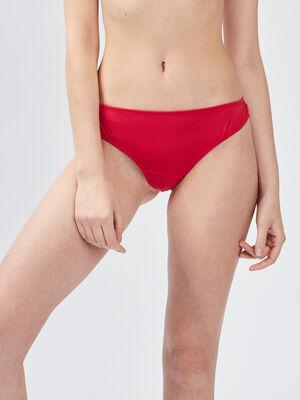 Culotte tanga a dentelle rouge femme