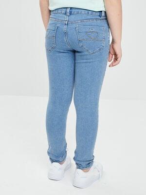 Jeans skinny effet delave denim double stone fille