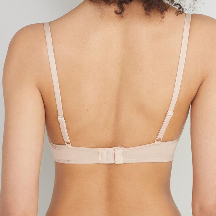 Soutien-gorge triangle microfibre femme beige