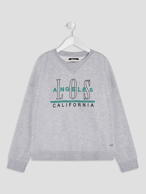 Sweat Liberto gris fille