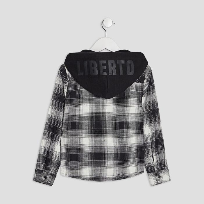 Chemise à capuche Liberto garçon noir