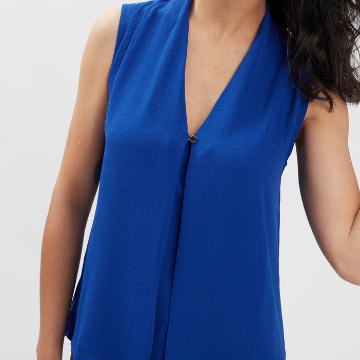 Débardeur bretelles larges femme bleu violet