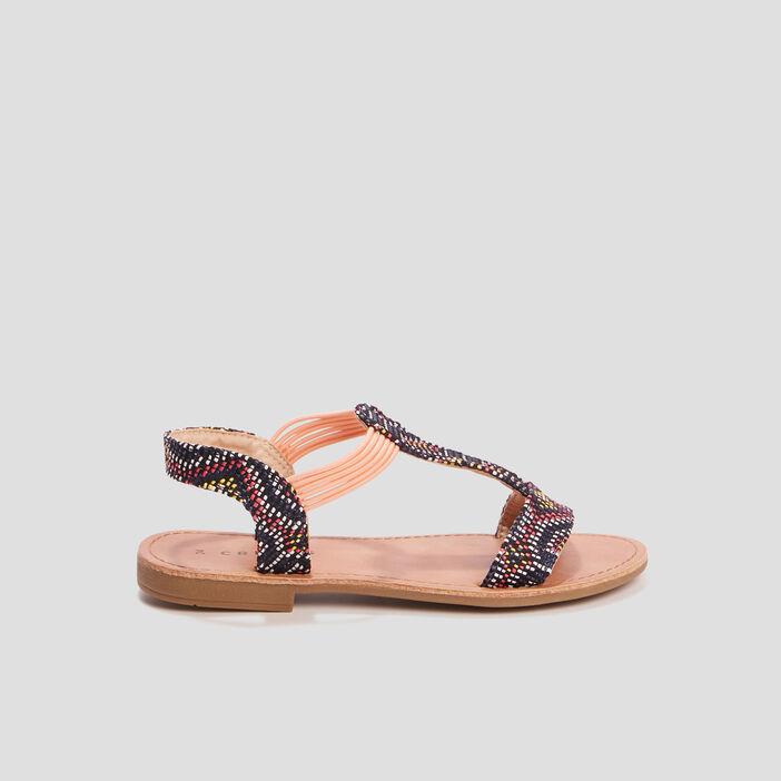 Sandales plates Creeks fille noir