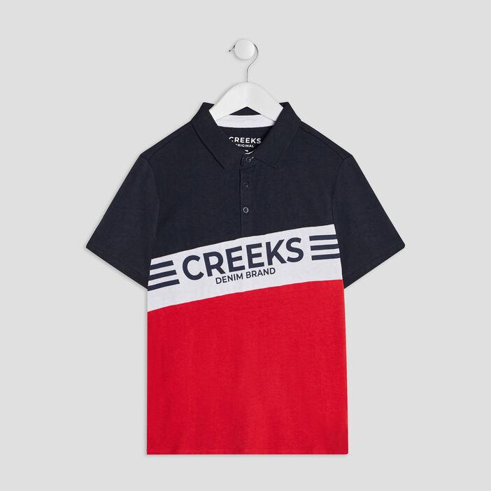 Polo manches courtes Creeks garçon rouge
