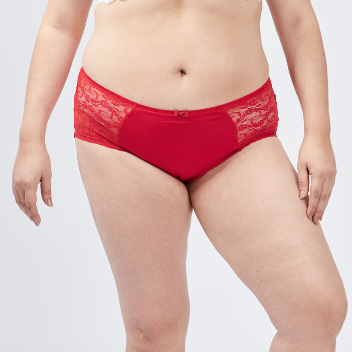 Boxer grande taille femme grande taille rouge