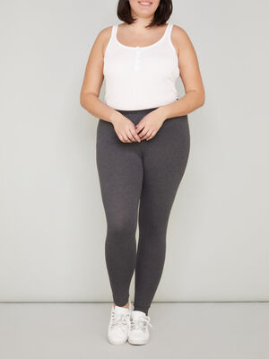 Legging long coton majoritaire gris fonce femmegt