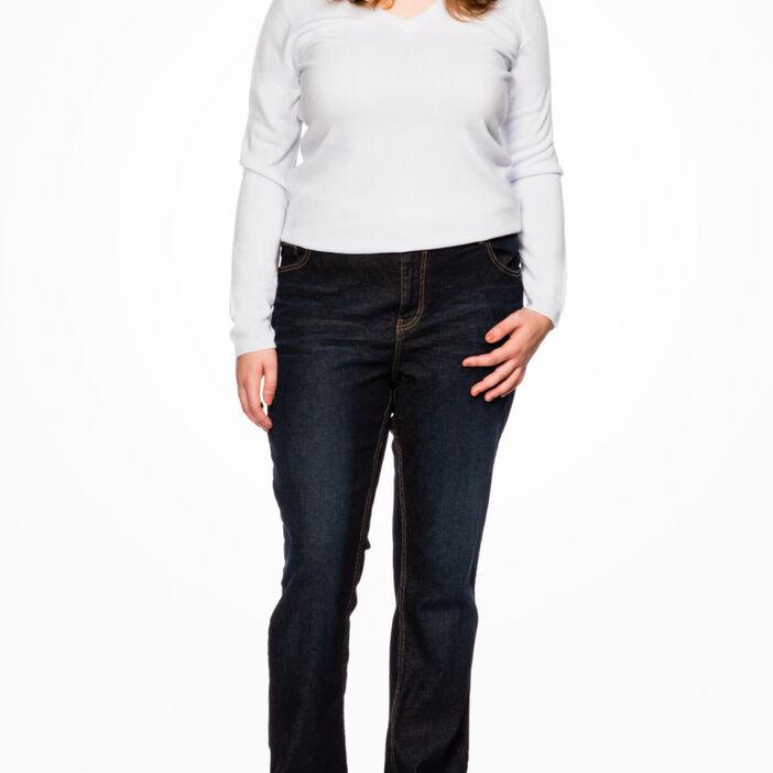 Jean grande taille coton majoritaire femme denim brut