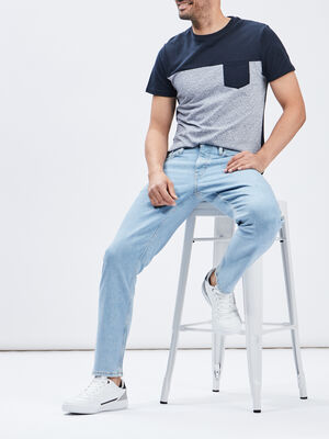 Jeans relax fit Creeks denim bleach homme
