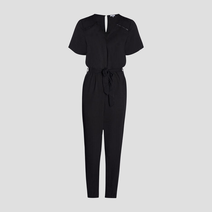 Combinaison pantalon fluide femme noir