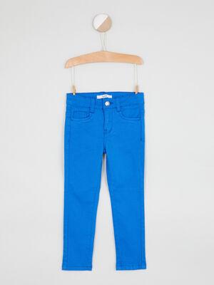 jean droit 5 poches bleu roi garcon