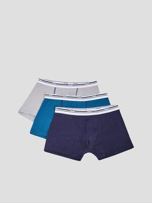 Lot 3 boxers DIM bleu homme