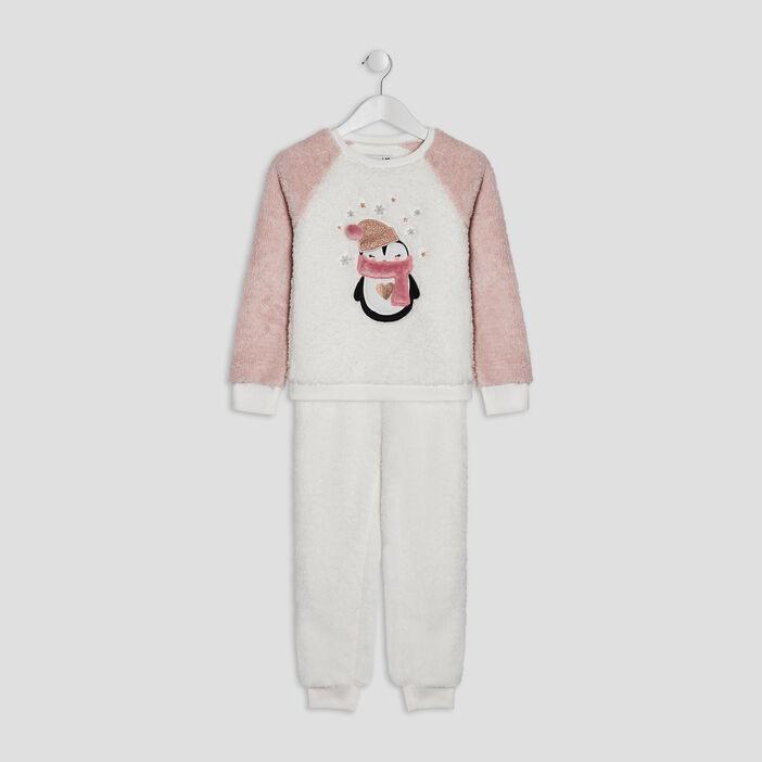 Ensemble pyjama 2 pièces fille rose