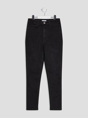 Jeans skinny cropped denim snow noir fille