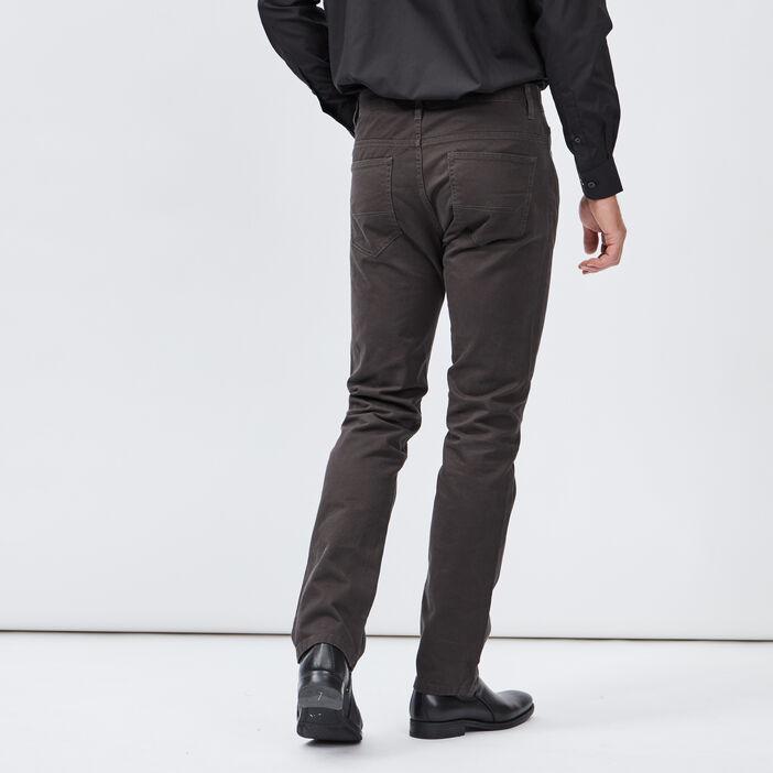 Pantalon droit homme gris foncé