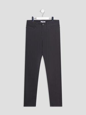 Pantalon slim gris fonce garcon