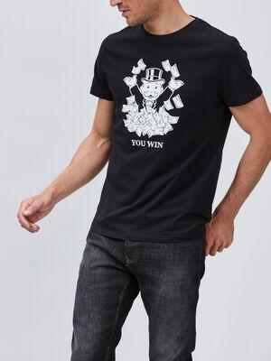 T shirt Monopoly noir homme