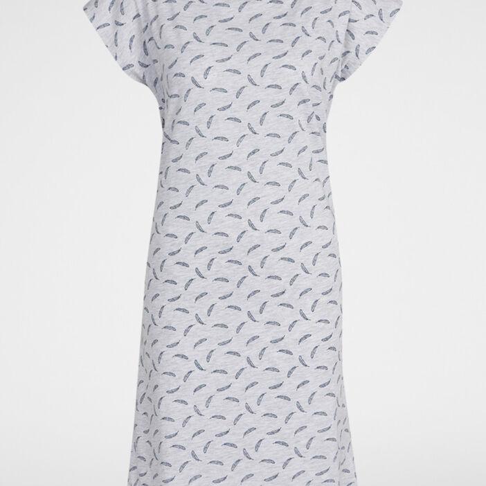 Chemise de nuit femme gris