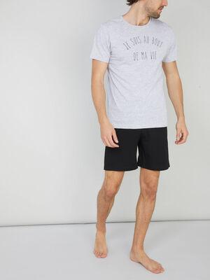 Pyjama bicolore coton majoritaire gris homme