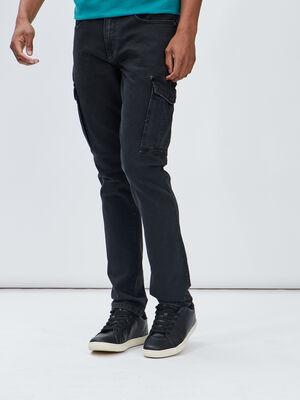 Jeans straight Liberto noir homme