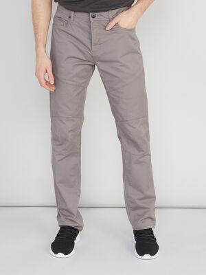 Pantalon droit avec detail surpiqures taupe homme