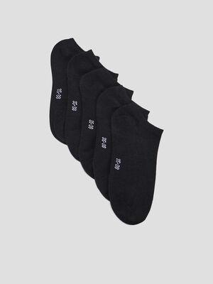 Socquettes noir femme