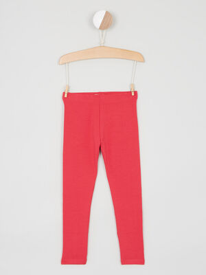 Pantalon legging rose fushia fille