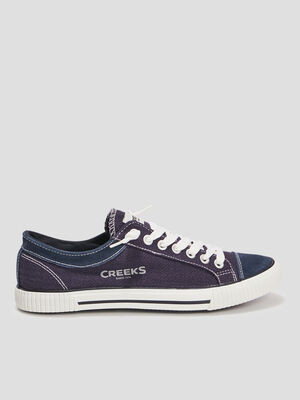 Tennis en jean Creeks bleu homme