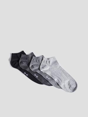 Socquettes gris femme