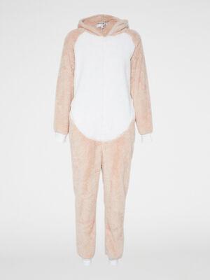Combinaison pyjama Licorne toucher doux rose femme