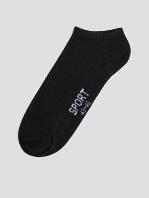 Lot 5 paires de chaussettes de sport noir homme
