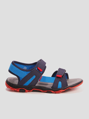 Sandales a scratchs bleu garcon
