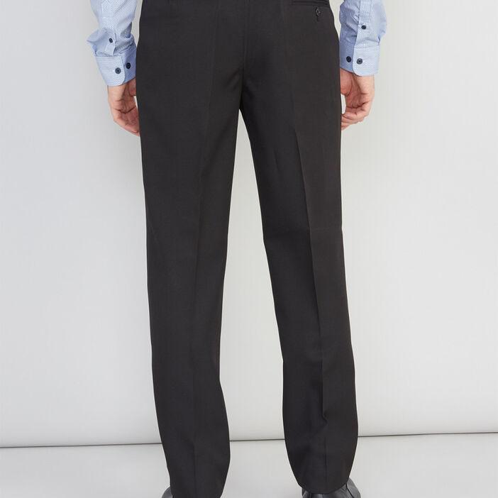 Pantalon droit avec pli homme noir