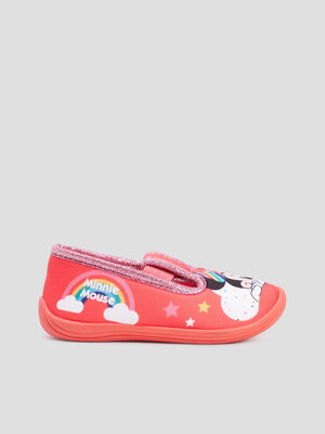 Chaussons Minnie rouge fille