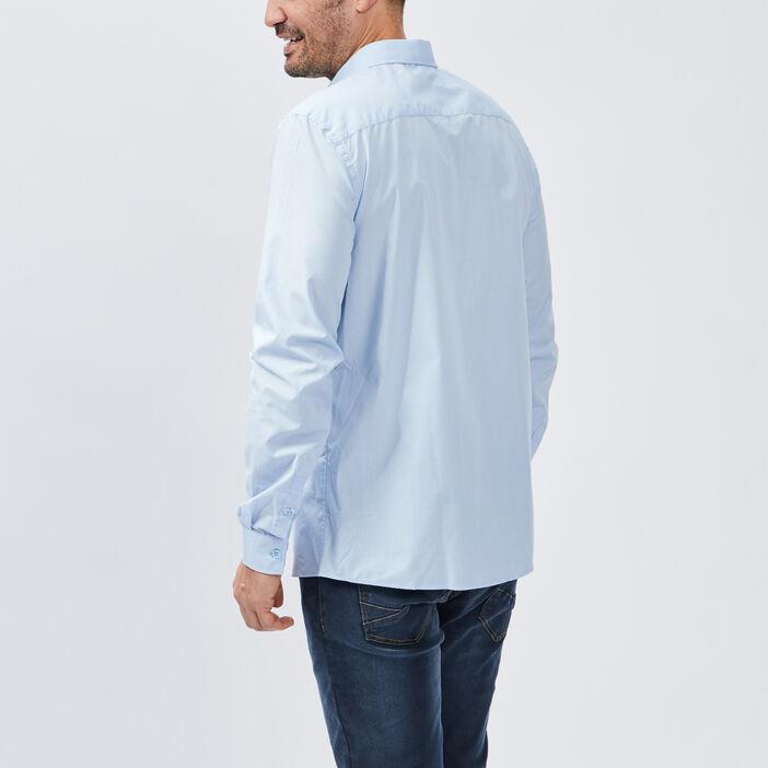 Chemise manches longues homme bleu ciel