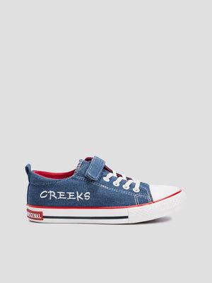 Tennis en jean Creeks bleu garcon