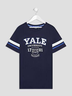T shirt manches courtes Yale bleu marine garcon