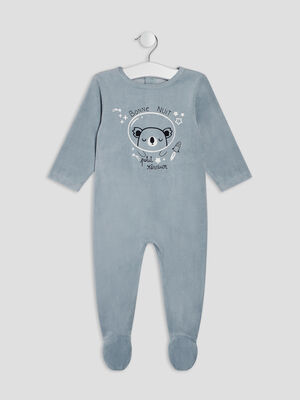 Dors bien manches longues bleu gris bebeg