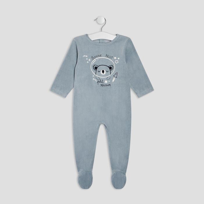 Dors-bien manches longues bébé garçon bleu gris
