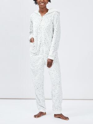 Pyjama combinaison ecru femme