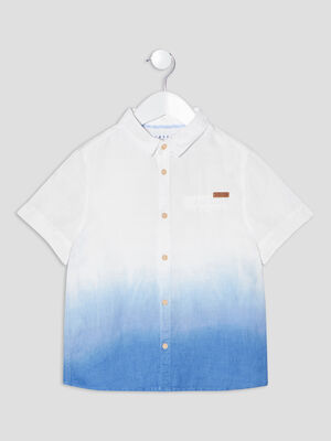 Chemise manches courtes Creeks bleu garcon