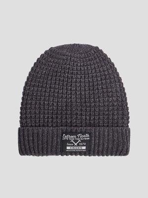 Bonnet tricote Creeks gris fonce garcon