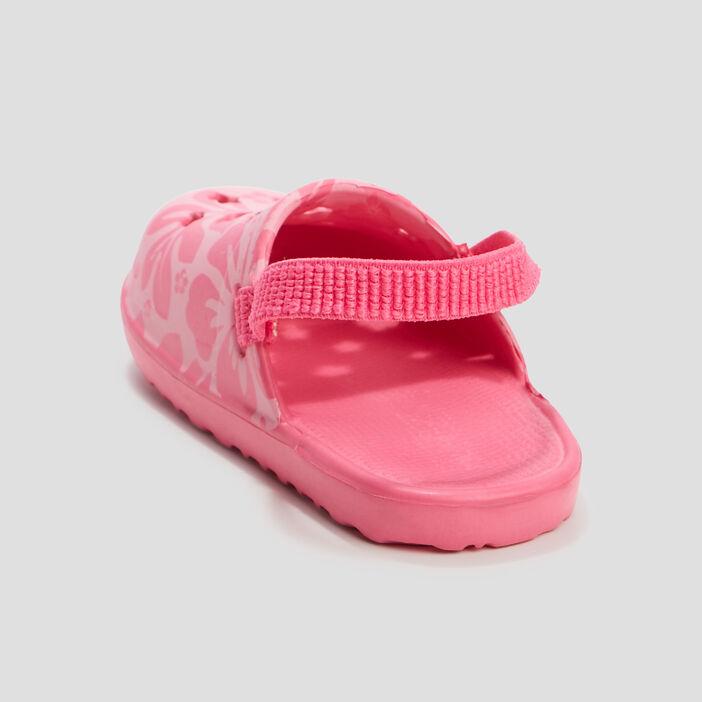 Sabots de plage bébé fille rose fushia