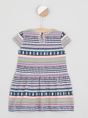 Robe fleurie a manches courtes multicolore bebef