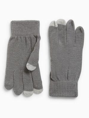 Gants bout des doigts tactile gris mixte