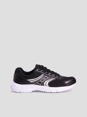 Baskets running noir homme