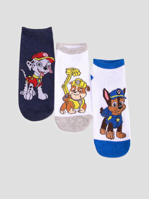 Lot 3 chaussettes Paw Patrol multicolore